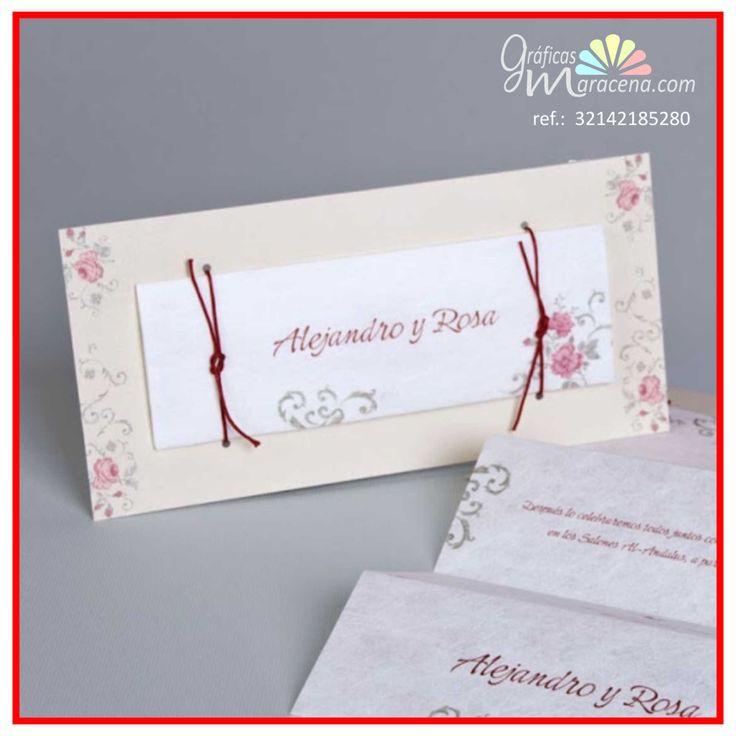 Invitación de boda 2016 - Rosas rosas