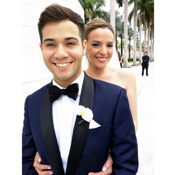 Carlos Cacciamani looking great on his wedding day in a slick custom tuxedo.