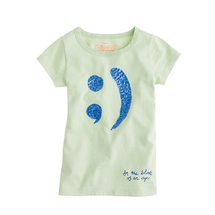 Fresh Sequin winky face t Jcrew pricey right now but oh so cute