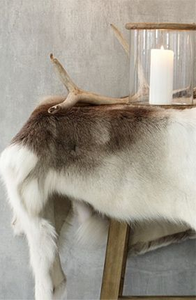 Antlers and reindeer items really add to the chalet look - bring a touch of the rustic to your chic look.
