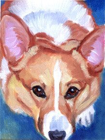 Pembroke Welsh Corgi Original ACEO miniature Fine by DogArtByLyn, $20.00