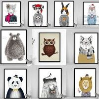 Home | 10 Patterns Home Decoration Vintage Cartoon Pattern Poster Animal Canvas Art Print Painting Home Decor 21*29.7cm