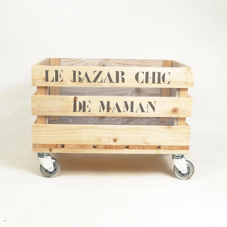 17 meilleures images propos de meubles avec palette sur pinterest titulai - Caisse pour ranger le bois ...