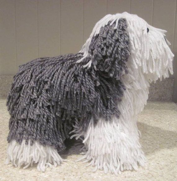 "**This is a PDF PATTERN only. This listing is not for a finished product**   *****AVAILABLE IN U.S. ENGLISH ONLY*****  This Old English Sheepdog wants nothing more than to give you big sloppy kisses all day. He has the coloring and attributes of a realistic Old English Sheepdog. He measures 12""L x 10""H x 6""W and is made from my own original pattern. The pattern comes with multiple photographs and illustrations to aide in the construction and placement of his various features. What you need…"