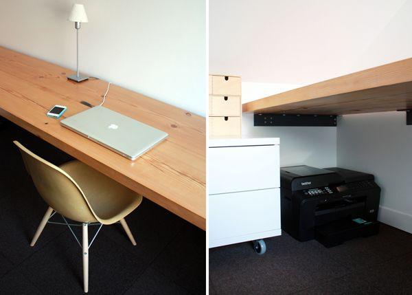 17 best ideas about floating desk on pinterest desk. Black Bedroom Furniture Sets. Home Design Ideas