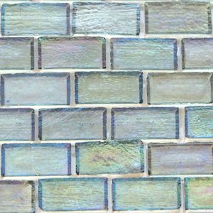 Subway Tile | Smoky Quartz Iridescent Mini Glass Subway Tile - Mosaic Tile Warehouse
