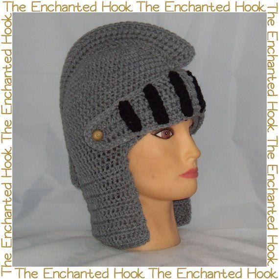 Crochet Roman Soldier Helmet by TheEnchantedHook on Etsy, £19.50