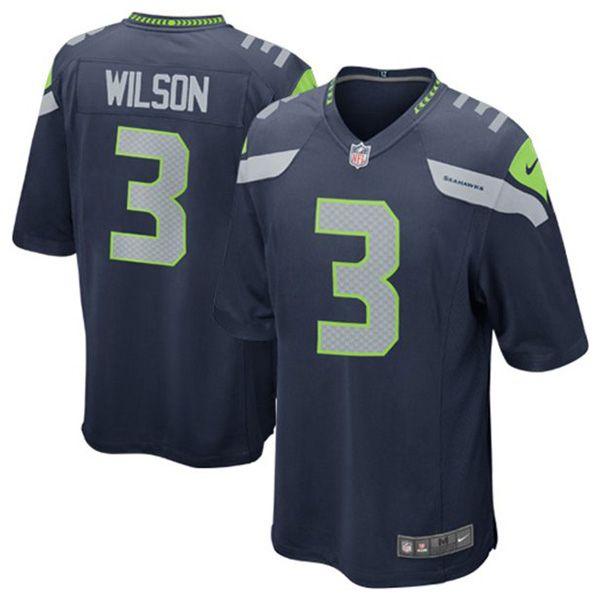 シーホークス #3 ラッセル・ウィルソン Game ユニフォーム (カレッジネイビー) Nike