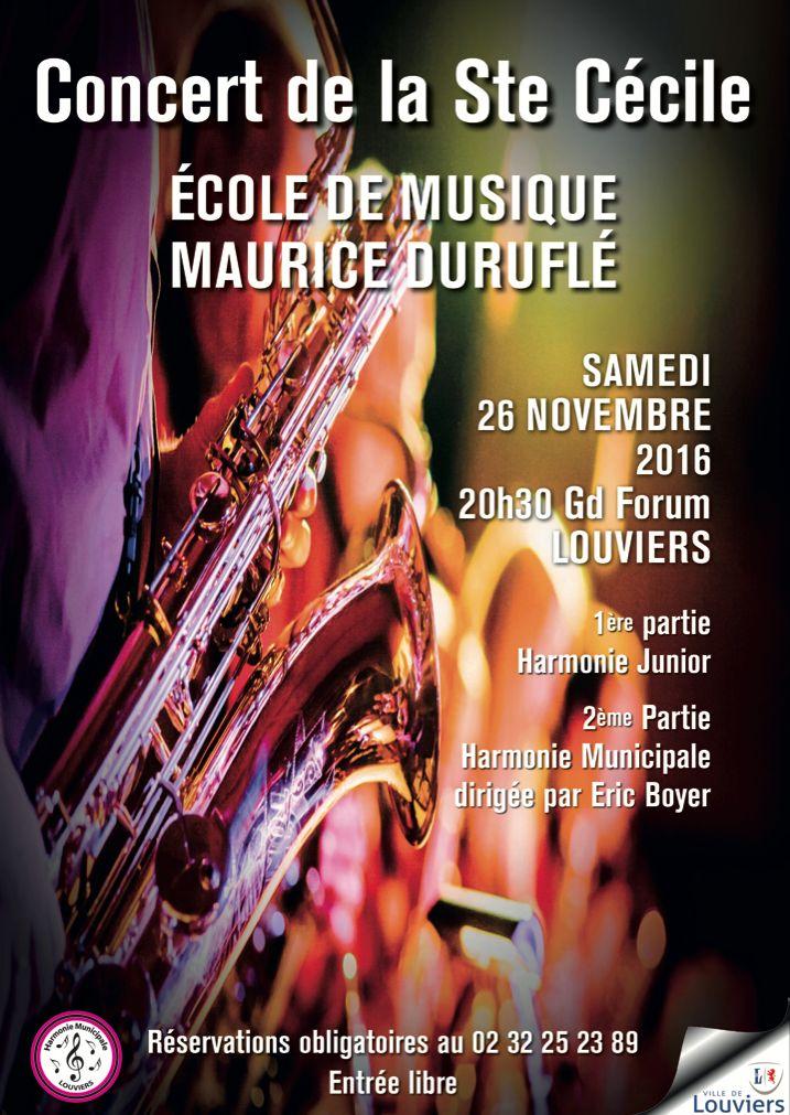Grad concert de la Sainte Cécile par l'école de musique de Louviers