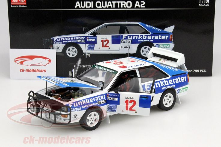 Audi Quattro A2, Safari Rally 1984, No.12, Wittmann / Diekmann. Sun Star Models, 1/18, Limited Edition 799 pcs. Price (2016): 75 EUR.