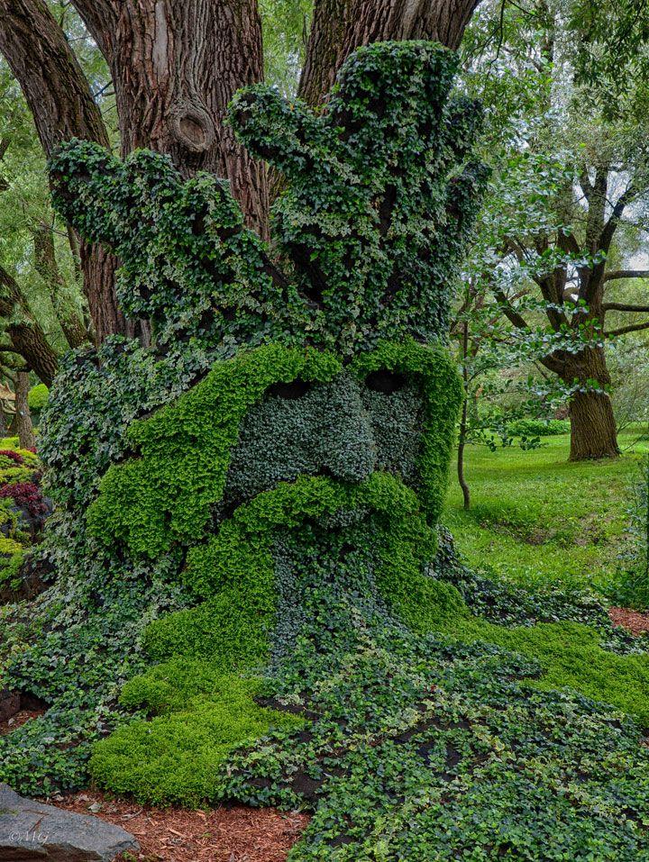 Garden Plant Sculptures | ... Amazing Plant Sculptures Installed In Montreal  Gardens (Photo