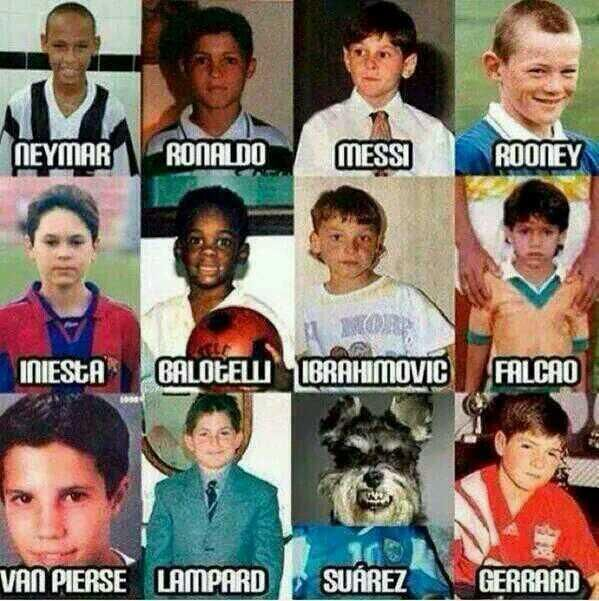 Wow. Rooney is adorable but look at his hairline even at that age! Also, stupid Suarez.