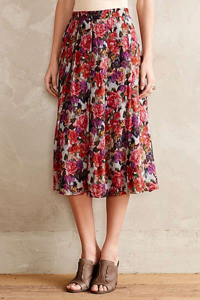 Anthropologie pleated primrose midi skirt my style for Online stores like anthropologie