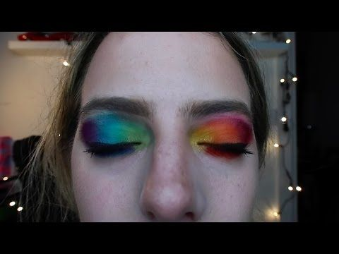 Rainbow Eyes~ MARDI GRAS MAKEUP TUTORIAL // Issy Condello