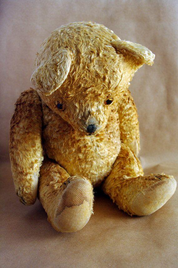 Antique Teddy Bear Vintage European Teddy bear by BlackFootedCat:
