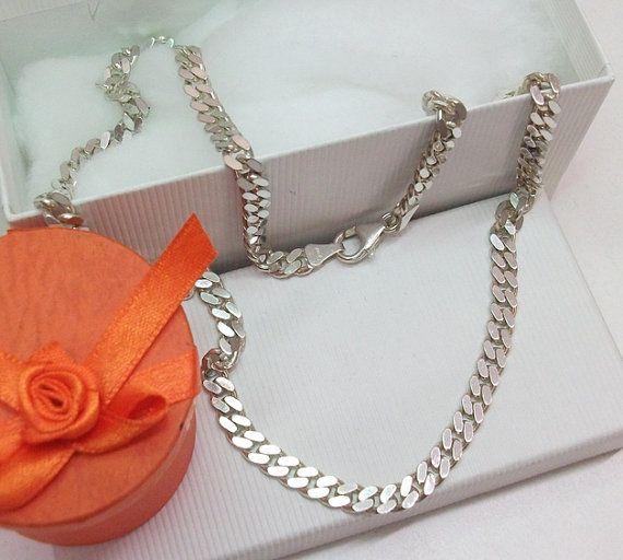 Edle Kette Halskette Panzerkette Silber 925 Länge von Schmuckbaron
