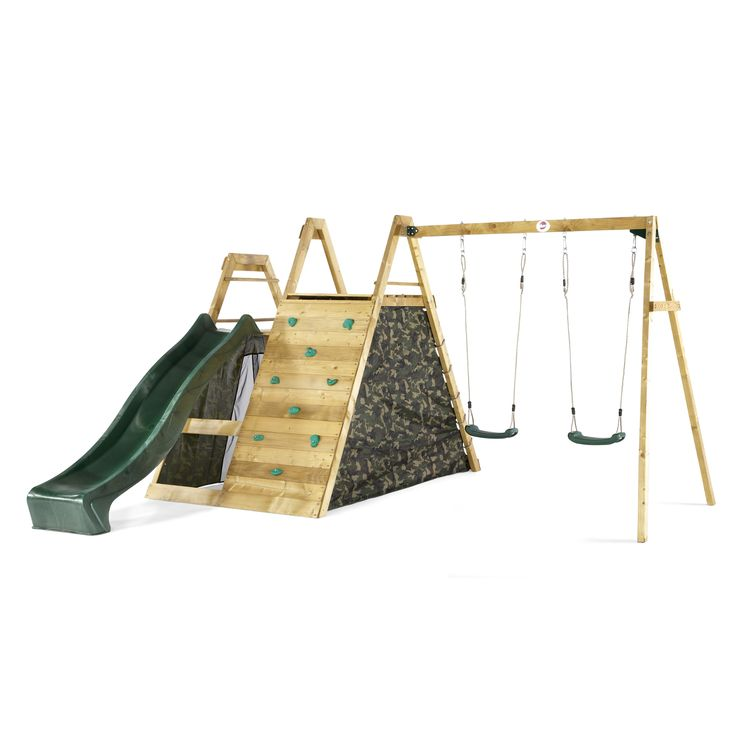 Plum Climbing Pyramid Wooden Climbing Frame With Swings Kiddicare.com