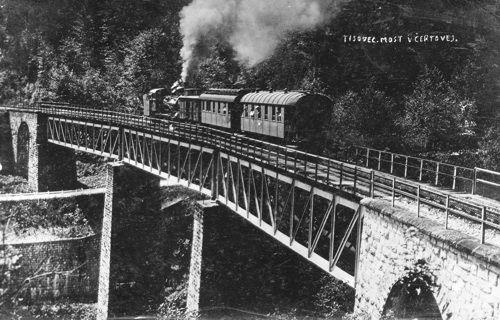 Čertov viadukt – dobová fotografia