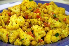Caribbean Pot: Vegetarian Cauliflower With Chickpeas Curry Recipe. vegan gluten free