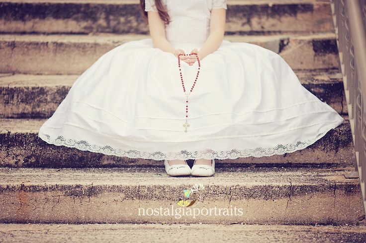 girl first communion from Nostalgia Portraits