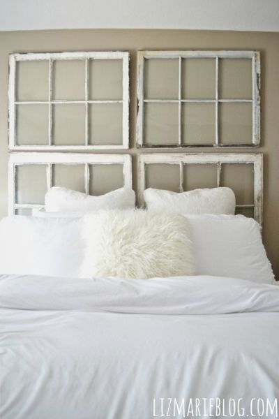 Antique Window Headboard DIY Liz Marie Blog