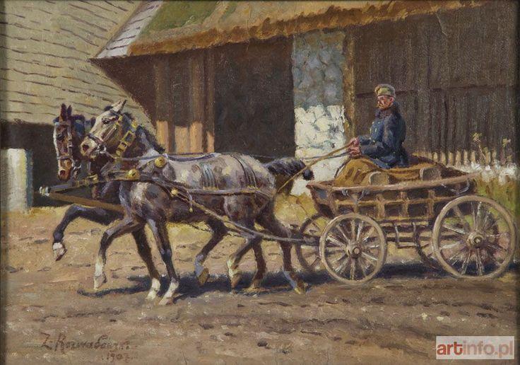 Zygmunt ROZWADOWSKI ● Wóz z końmi, 1907 r. ●