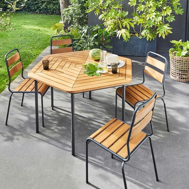 Hexagonal Garden Table Garden Ideas Garden Table Outdoor