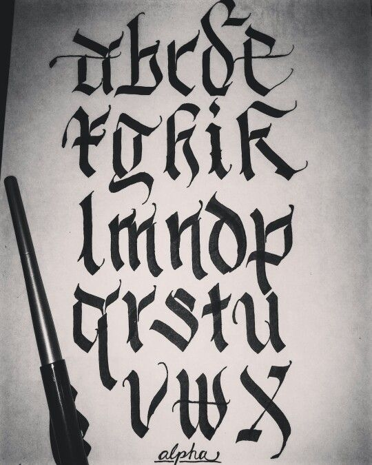 Calligraphy alphabet ..Done by- Justin Albright a.k.a. alpha_bet_assassin on instagram
