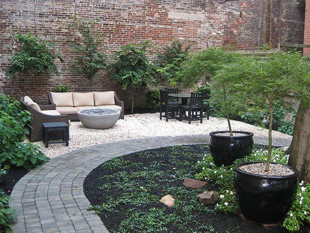 Townhouse Backyard Patio Ideas : Outdoor Ideas, Townhouse Gardens, Stones Paths, Backyards Ideas