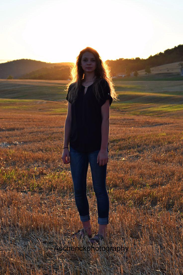 Senior Photography * Farm Photography * Hay Bale Photography *  Country Photography * Summer * Senior Photography Ideas * Sunset Photography * Farm Field Photography * Senior 2017