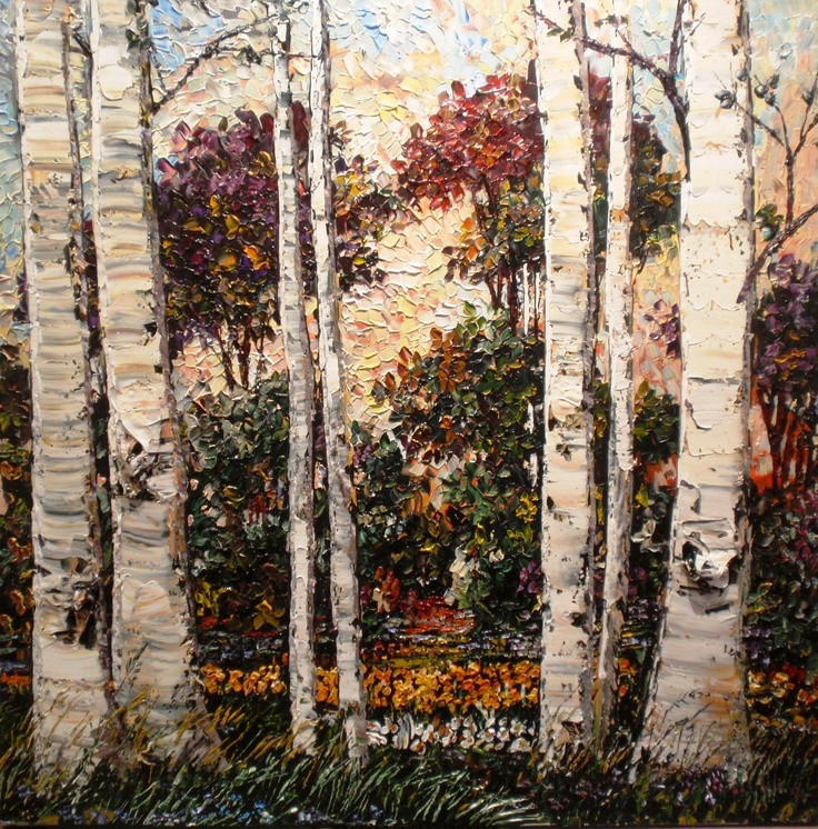 Stunning use of palette knives