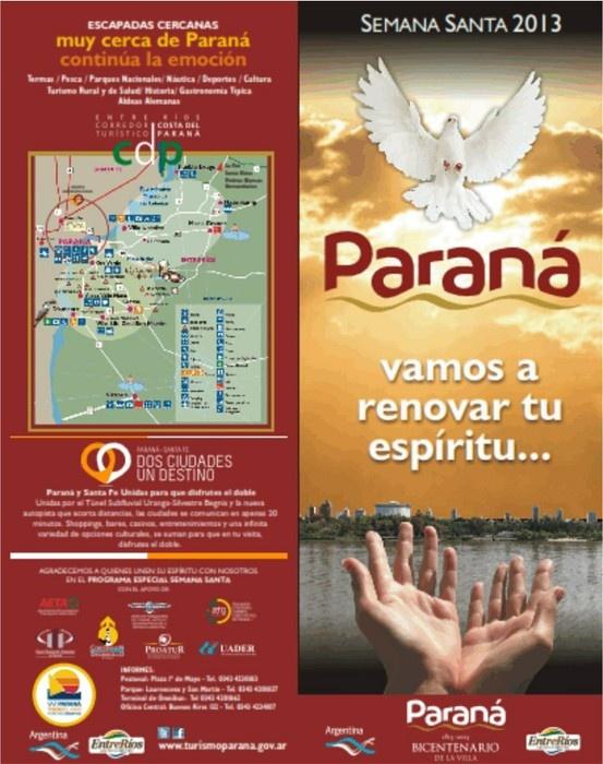 Calendario de eventos para Semana Santa en Paraná