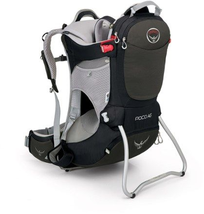 The streamlined Osprey Poco AG child carrier channels everything Osprey knows about packs into a carrier that's comfortable, supportive, lightweight, ventilated and supremely easy to adjust for fit. Available at REI, 100% Satisfaction Guaranteed.