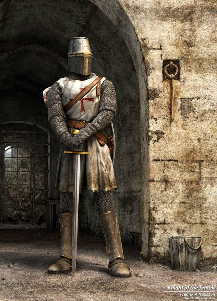 A noble - a knight of the Templars... Love that pose!