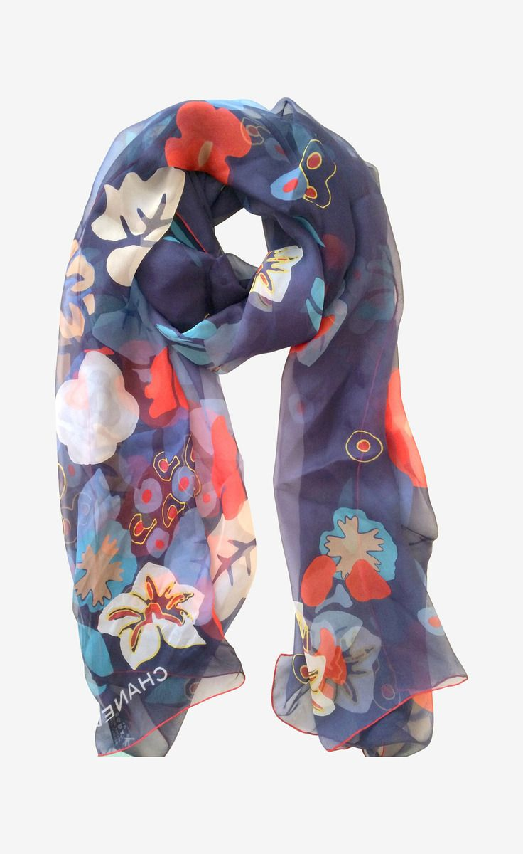 Chanel Scarf ~ Perfect for summer boating and cruises. Use at the beach for that haute couture.