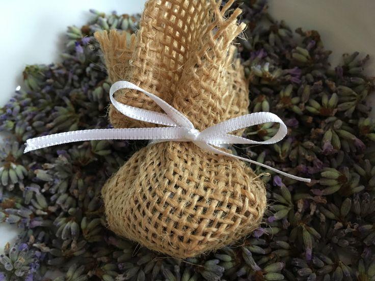 Lavender pomanders www.etsy.com/uk/shop/Roseybuddles #lavender #weddingfavour #sweetsmelling #frangranced #vintagewedding #burlap