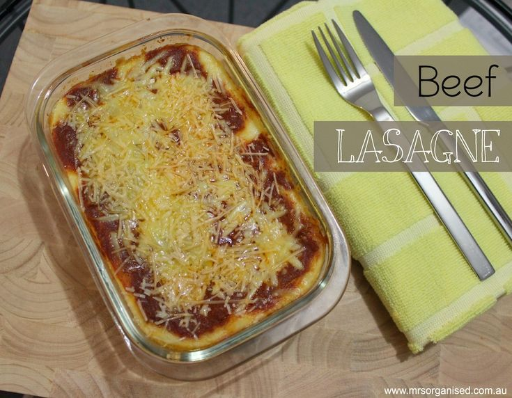 Beef Lasagne … A Simple Homemade Recipe … if you're looking for an easy yet delicious recipe for Lasagne … here it is!