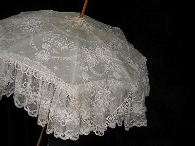 Gorgeous antique lace umbrella ~❥