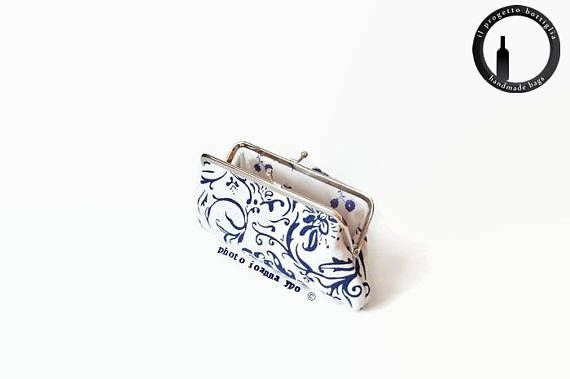 Metal frame coin purse-Kisslock wallet-Kiss lock