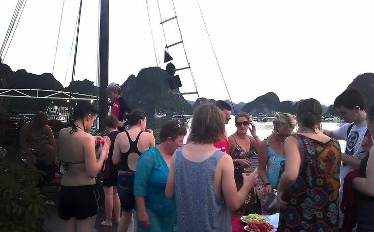 Fruit buffet on boat trip #HaLongBay #BoatCruises