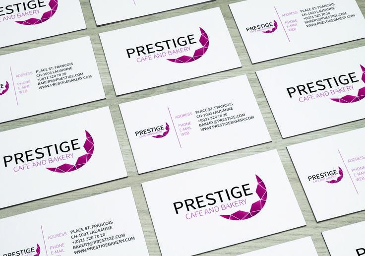 Prestige, café and bakery | business card