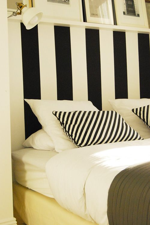 tete de lit a rayures peinture diy pinterest. Black Bedroom Furniture Sets. Home Design Ideas