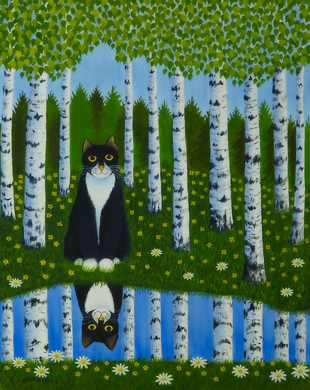 """Summer cat"" by Veikko Suikkanen   Redbubble"