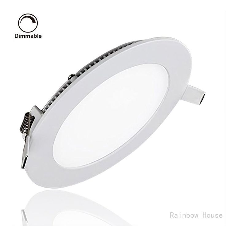 Led Panel Light Celiing Dimmable Lamp 12w 6000k 960lm Round Led Recessed Lighting Cut Hole