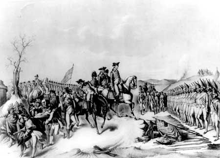 General George Washington accepting the Hessian Surrender at the Battle of Trenton 25th December 1776