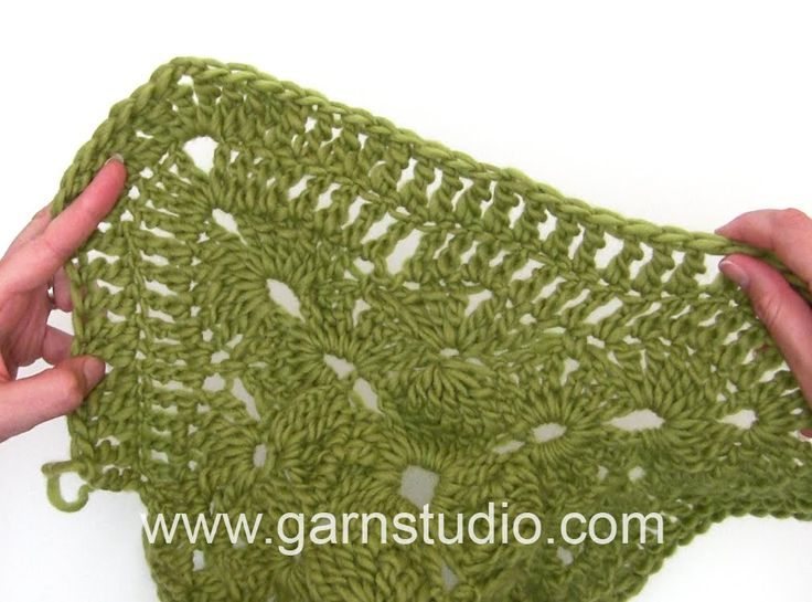 DROPS Crocheting Tutorial: How to work granny square used in DROPS 158-53
