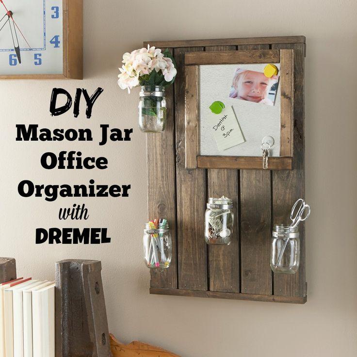 Mason Jar Desk Organization Offices