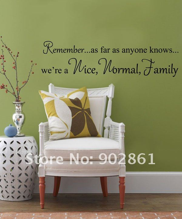 We Are Family Living Room Wall Quote Decal Sticker Vinyl