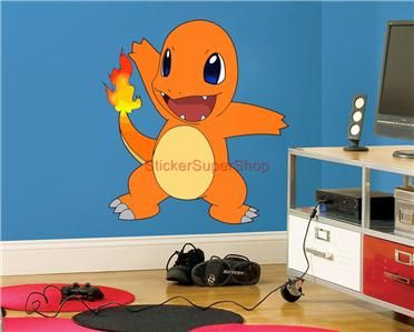 pokemon+wall+decals | ... Size - CHARMANDER Pokemon Decal Removable WALL STICKER Art Decor Mural