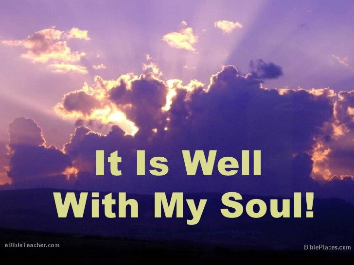 061118 It Is Well With My Soul Romans 8 28 29 Dale Wells